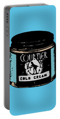 Portable Battery Charger featuring the digital art Cold Cream by ReInVintaged