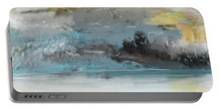 Cold Day Lakeside Abstract Landscape Portable Battery Charger