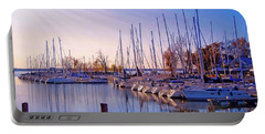 Portable Battery Charger featuring the photograph Cold Kentucky Lake Marina by Bonnie Willis