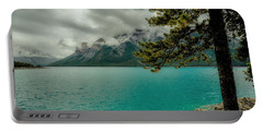 Cold Morning On Lake Minnewanka Portable Battery Charger