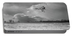 Portable Battery Charger featuring the photograph Cold War Warrior Bw Version by Gary Eason