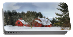 Cold Winter Days In Vermont Portable Battery Charger by Sharon Batdorf