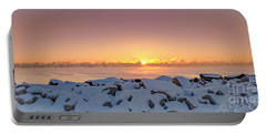 Cold Winter Sunrise Portable Battery Charger