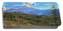 Coldwater Lake At Mt. St. Helens Panorama Portable Battery Charger