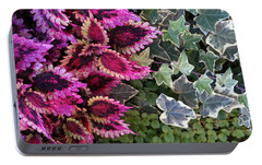 Portable Battery Charger featuring the mixed media Coleus And Ivy- Photo By Linda Woods by Linda Woods