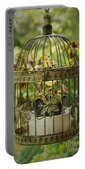 Coleus In Vintage Birdcage Portable Battery Charger