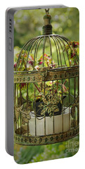 Coleus In Vintage Birdcage Portable Battery Charger
