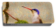Portable Battery Charger featuring the photograph Colibri by John Kolenberg