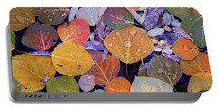 Collage Of Aspen Leaves At Mcgee Creek In The Eastern Sierras Portable Battery Charger