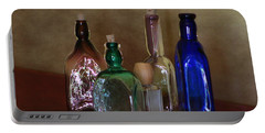 Collection Of Vintage Bottles Photograph Portable Battery Charger