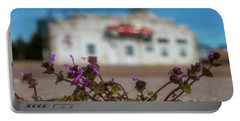 Portable Battery Charger featuring the photograph Collyer Sidewalk Blooms by Darren White