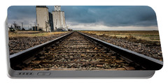 Portable Battery Charger featuring the photograph Collyer Tracks by Darren White