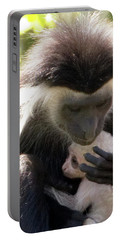 Colobus Monkey And Child Portable Battery Charger