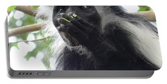 Colobus Monkey Eating Leaves In A Tree 2 Portable Battery Charger