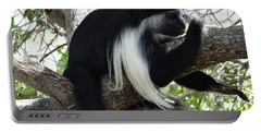 Colobus Monkey Resting In A Tree Portable Battery Charger