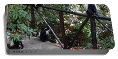 Colobus Monkeys At Sands Chale Island Portable Battery Charger