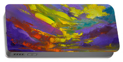 Coloful Sunset, Oil Painting, Modern Impressionist Art Portable Battery Charger