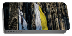 Cologne Cathedral Flags Portable Battery Charger