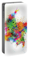 Colombia Paint Splashes Map Portable Battery Charger