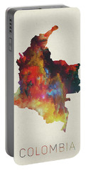 Colombia Watercolor Map Portable Battery Charger