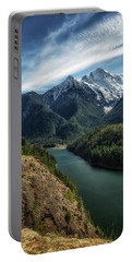 Colonial Peak Towers Over Diablo Lake Portable Battery Charger