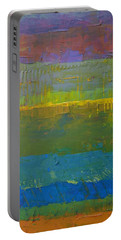 Portable Battery Charger featuring the painting Color Collage Five by Michelle Calkins