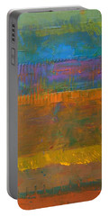 Portable Battery Charger featuring the painting Color Collage One by Michelle Calkins
