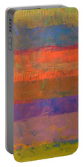 Portable Battery Charger featuring the painting Color Collage Two by Michelle Calkins