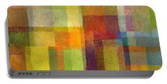 Color Collage With Green And Red 2.0 Portable Battery Charger by Michelle Calkins