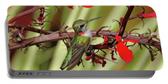 Color Coordinated Hummer Portable Battery Charger by Debbie Oppermann