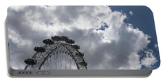 Color Coordinated Skyward View - The London Eye Against Dramatic Sky Portable Battery Charger
