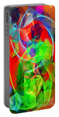 Portable Battery Charger featuring the digital art Color Dance 3720 by Rafael Salazar
