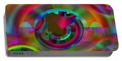 Portable Battery Charger featuring the digital art Color Dome by Lynda Lehmann
