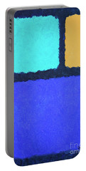 Portable Battery Charger featuring the painting Color Fields by Jutta Maria Pusl