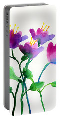 Color Flowers Portable Battery Charger