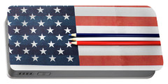 Portable Battery Charger featuring the photograph Color Me Red White And Blue by Rebecca Cozart