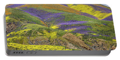 Portable Battery Charger featuring the photograph Color Mountain II by Peter Tellone