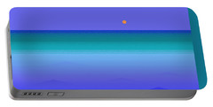 Portable Battery Charger featuring the digital art Color Of Water by Val Arie