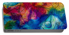 Portable Battery Charger featuring the drawing Color Splash by Megan Walsh
