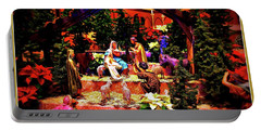 Color Vibe Nativity - Border Portable Battery Charger