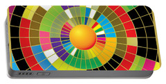 Color Wheel Portable Battery Charger