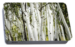 Portable Battery Charger featuring the photograph Colorado Aspens by Dawn Romine