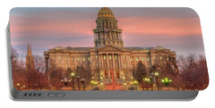 Portable Battery Charger featuring the photograph Colorado Capital by Gary Lengyel