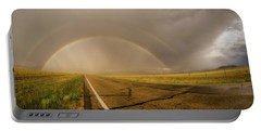 Colorado Double Rainbow Portable Battery Charger by Chris Bordeleau