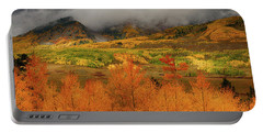 Portable Battery Charger featuring the digital art Colorado Fall Colors  by OLena Art Brand