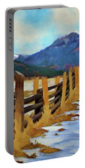 Colorado Fence Line  Portable Battery Charger by Jeff Kolker