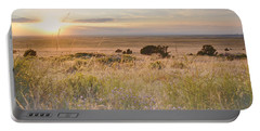 Colorado Field Sunset Landscape Portable Battery Charger by Andrea Hazel Ihlefeld