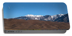 Colorado Great Sand Dunes With Falling Star Portable Battery Charger by James BO Insogna