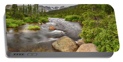 Colorado Indian Peaks Wilderness Creek Panorama Portable Battery Charger