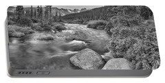 Colorado Indian Peaks Wilderness Panorama Bw Portable Battery Charger